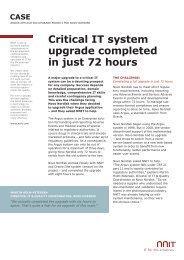 Critical IT system upgrade completed in just 72 hours - NNIT