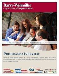 OE Programs Brochure - Barry-Wehmiller