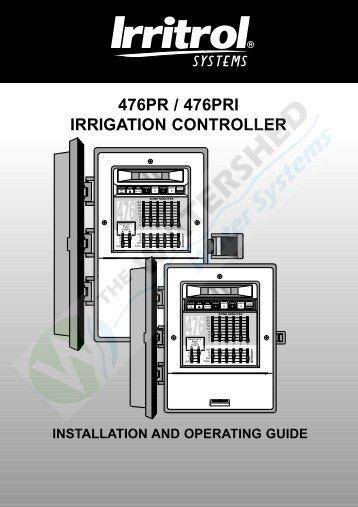 476PR / 476PRI IRRIGATION CONTROLLER - Thewatershed.biz