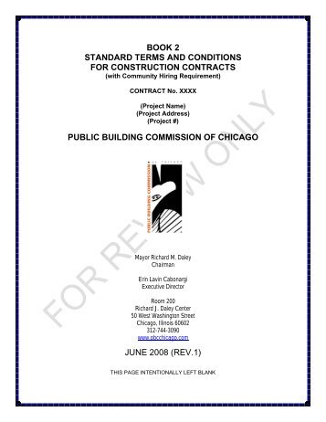 book 2 standard terms and conditions for construction contracts ...