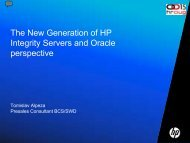 The New Generation of HP Integrity Servers and Oracle ... - HrOUG