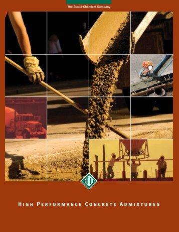 High Performance Concrete Admixtures - Euclid Chemical Co
