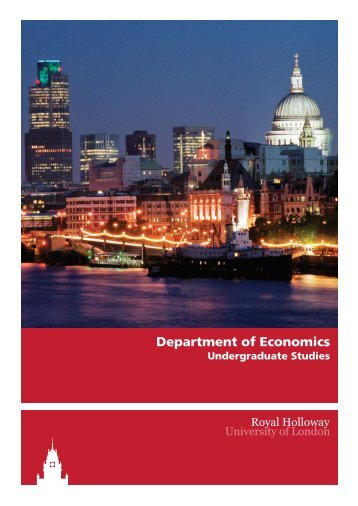 Department of Economics - Royal Holloway, University of London