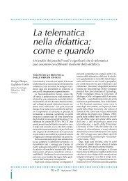 La telematica nella didattica - TD Tecnologie Didattiche - Cnr