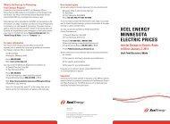 Xcel energy Minnesota electric Prices