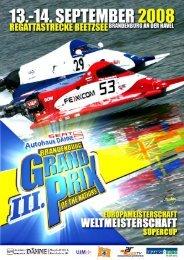 Advance Program, Schedule (PDF, 365kB) - Motorbootrennsport