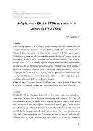 Relações entre TJUE e TEDH no contexto de adesão da UE à CEDH