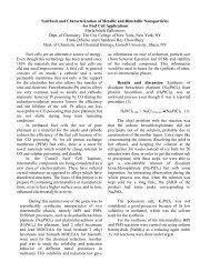 Synthesis and Characterization of Metallic and Bimetallic ... - MatDL
