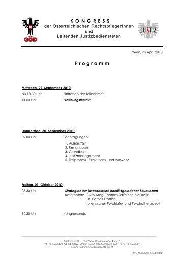 RpflKongress - Programm - ZA Justiz