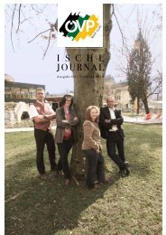 I s c h l Journal - ÖVP Bad Ischl