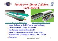 Linear Colliders CLIC and ILC - Particle Physics at CIEMAT