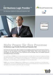 Microsoft Dynamics NAV - ELO Digital Office