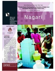 Nagari Ninth: Private Sector Participation in Provision of - WSP