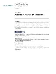 Autorité et respect en éducation - Sylvie Castaing - Chez