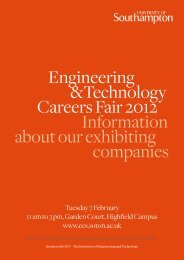 Engineering &Technology Careers Fair 2012 Information about our ...