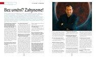 Rozhovor s Cyrilem Höschlem v časopise Sanquis, 2008