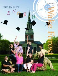Wake Forest Magazine June 2006 - Past Issues - Wake Forest ...