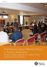 The Role of Labour Market Policy in Poverty Alleviation - Sida