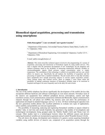 biomedical signal processing thesis A thesis submitted for the degree of doctor of philosophy (phd) 2013   algorithms and their applications in processing of various biomedical signals.