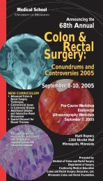 Colon Rectal brochure 2005 - University of Minnesota Continuing ...