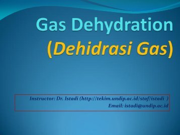 Dehidrasi Gas - Teknik Kimia UNDIP