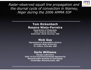 3rd AMMA International Conference - Diurnal Paper (T. Rickenbach ...