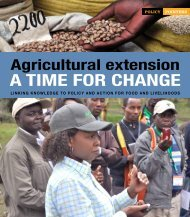 Agricultural extension: A time for change