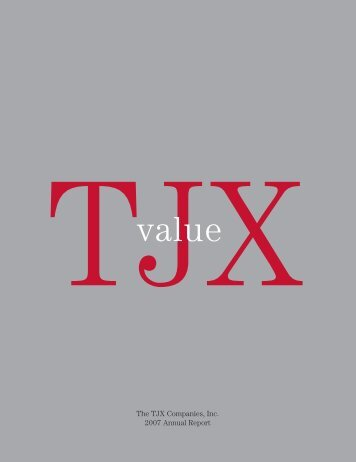 The TJX Companies, Inc. 2007 Annual Report - Shopic.com