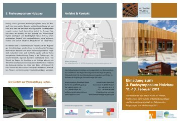 Einladung zum 3. Fachsymposium Holzbau 11.-13 ... - B4B Schwaben