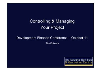 Controlling & Managing Your Project - National Self ... - BuildStore
