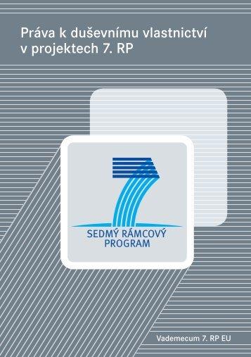 Práva k duševnímu vlastnictví v projektech 7. RP