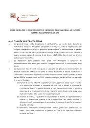 Regolamento recante disciplina per il conferimento di incarichi di ...