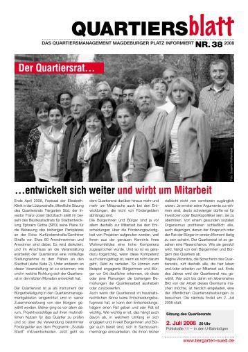 Ausgabe vom Juni 2008 - Magdeburger Platz Quartier