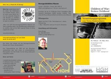 Vermittlungsprogramm - Heeresgeschichtliches Museum Wien
