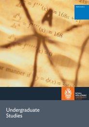 Undergraduate brochure - Royal Holloway, University of London