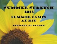 Printable Summer Stretch catalog - Kentucky Country Day