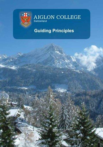Guiding Principles - Aiglon College