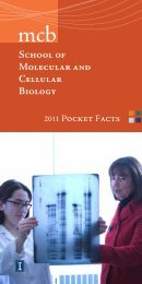 Facts (PDF) - The School of Molecular and Cellular Biology