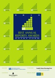 2012 hkma best annual reports awards - Hong Kong Management ...