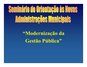 Gestão Pública de Resultados na Administração Municipal