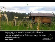 Engaging community forestry in climate change adaptation in Asia ...