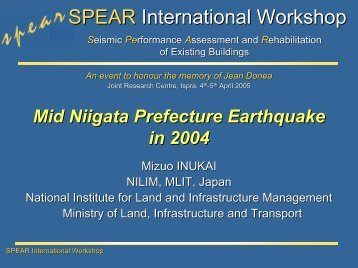 SPEAR International Workshop
