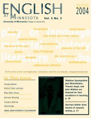 spring M - Department of English - University of Minnesota