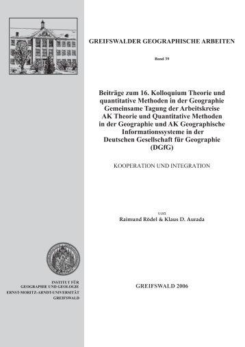Beiträge zum 16. Kolloquium Theorie und quantitative Methoden in ...
