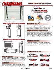 Integral Frame Fire & Smoke Door - Alpine Door