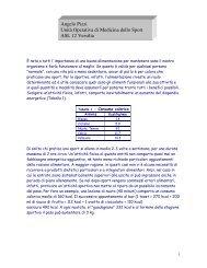 La dieta dello sportivo - Sup.usl12.toscana.it
