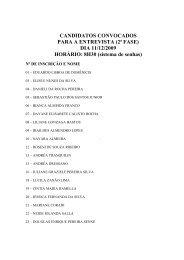 CANDIDATOS CONVOCADOS PARA A ENTREVISTA (2ª FASE ...