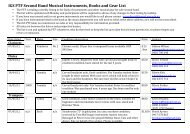 Second Hand Musical Items (pdf)