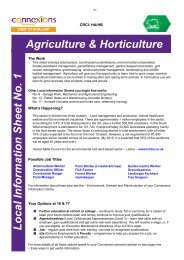 Local Information Sheet No. 1 Agriculture ... - Downend School
