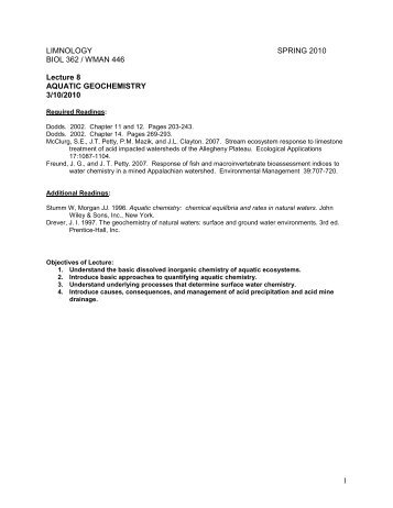 Lecture Handout - WVU Division of Forestry and Natural Resources